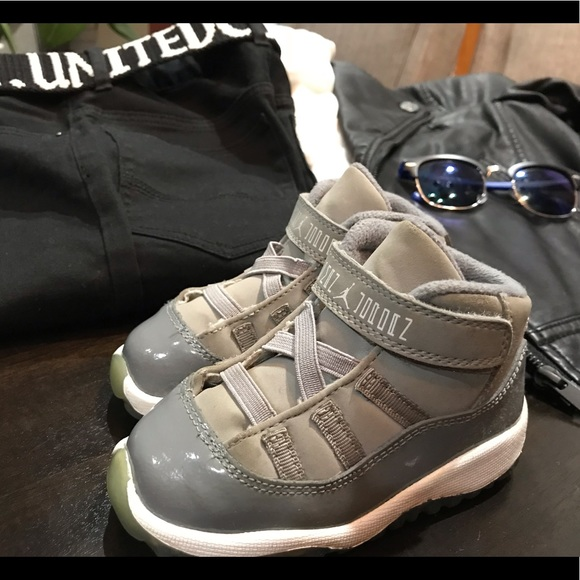 san francisco 5794f 1edaf Jordan 11 Retro Cool Grey Toddler Size 7C